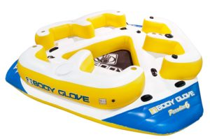 Body Glove Paradise 6 Inflatable Aqua Lounge with Waterproof Speaker System