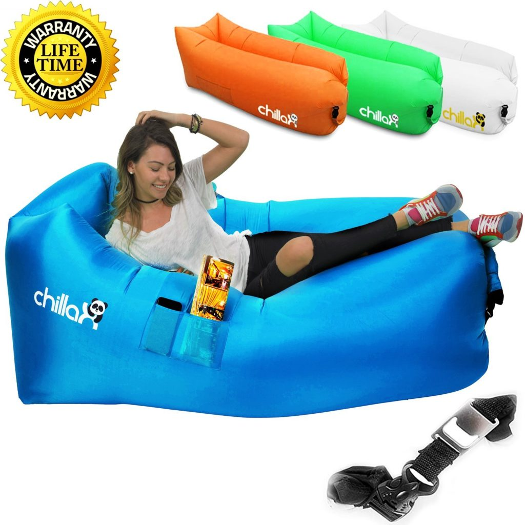 ChillaX Inflatable Lounger Hammock - Best Air Lounger for Travelling, Camping, Hiking