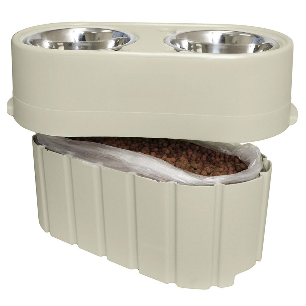 OurPets Store N  Feed Adjustable Raised Dog Bowl Feeder: