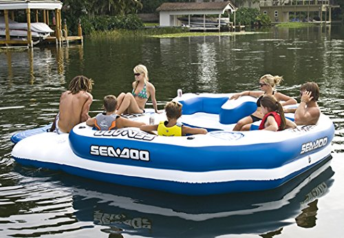Sea-Doo 8 Person Inflatable Mega Island Lake Float
