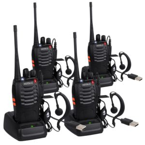 ESYNIC 4 Pack Rechargeable Walkie Talkies