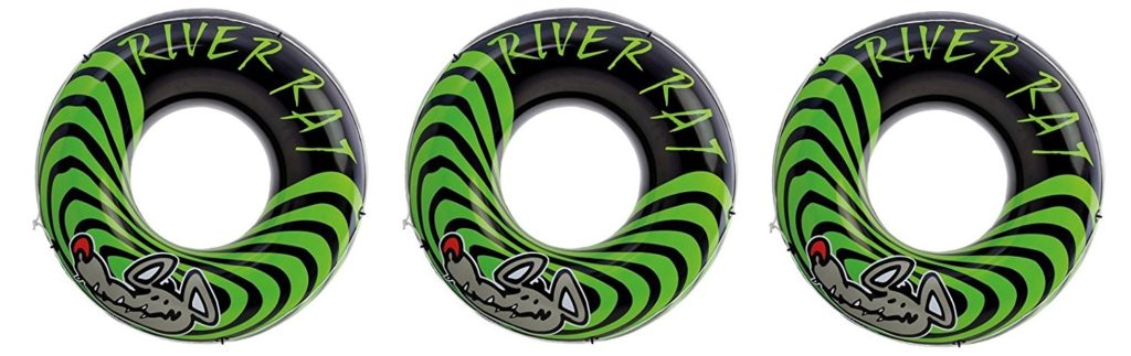 3-Pack Intex River Rat 48-Inch Inflatable Tubes For Lake/Pool/River