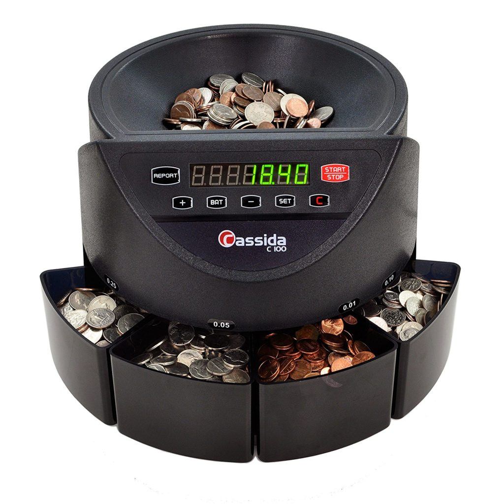 Cassida C100 Electronic Coin Sorter/Counter