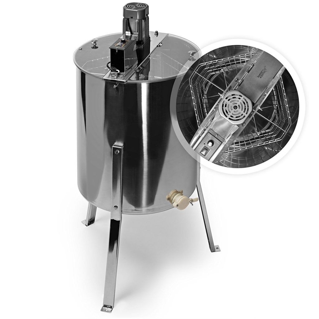 Honey Keeper Pro Electric 4-Frame Stainless Steel Honey Extractor