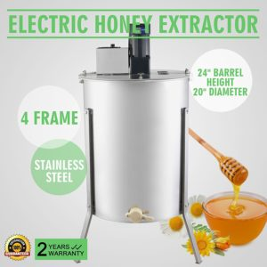 OrangeA 4-Frame Honey Extractor
