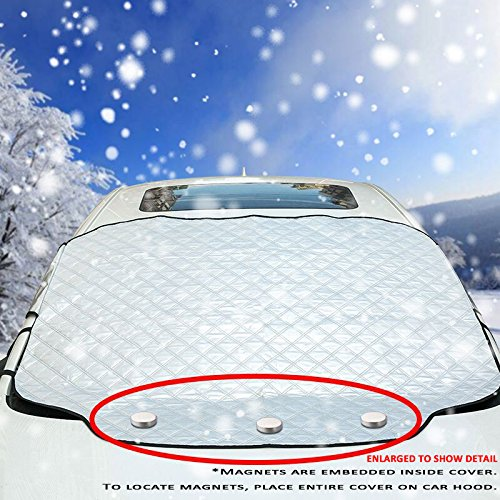 VIVVAUTO Magnetic Car Windshield Cover for Ice and Snow