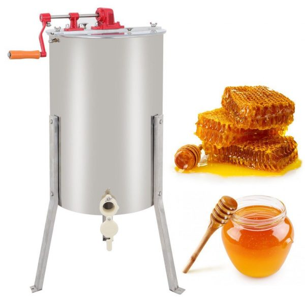 ZENY Pro 2-Frame Stainless Steel Honey Extractor