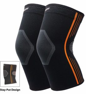NeoAlly Stay-Put Design and Latex-Free High Compression Knee Sleeve