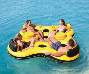 Bestway CoolerZ Rapid Rider X4 Inflatable 4-Person Island Tube