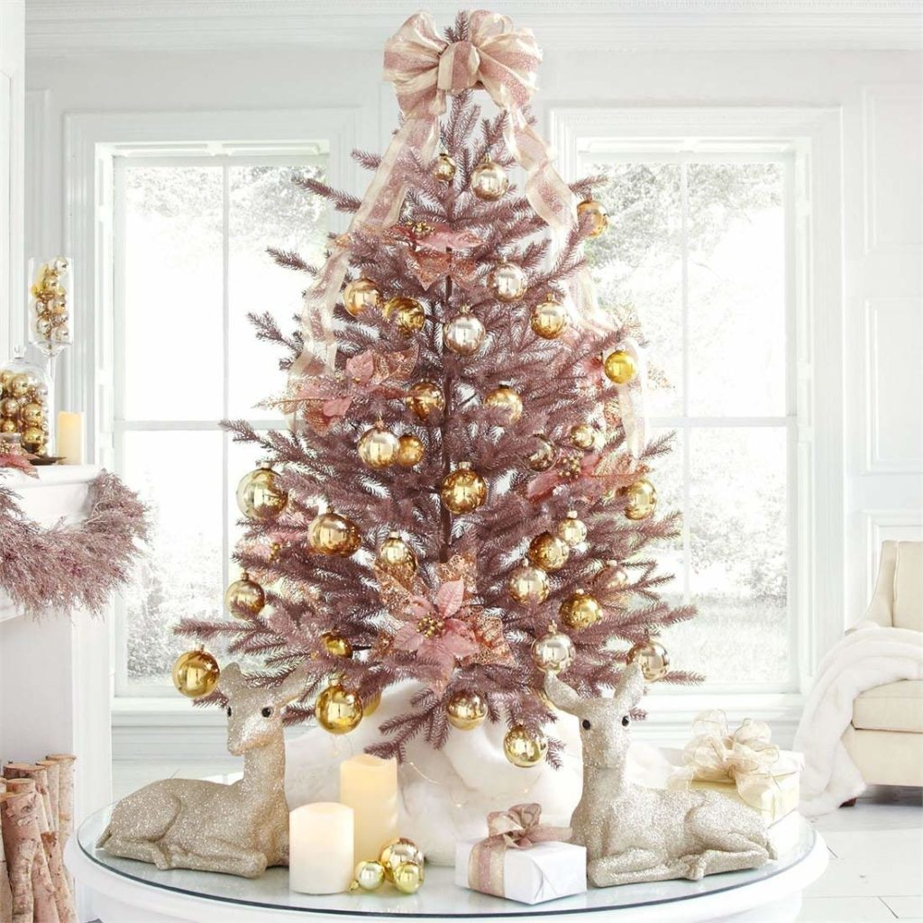 Brylanehome 4' Rose Gold Christmas Tree (Rose Gold,0)