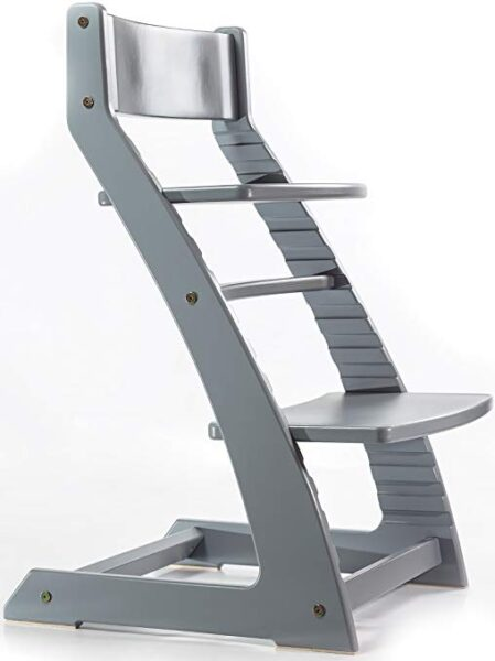 HeartWood Adjustable Wooden High Chair Grey Color for Babies and Toddlers