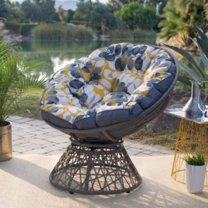 Kambree-Outdoor-Papasan-Chair-with-Reversible-Cushion-Made-with-Resin-WickerMetal-and-Polyester