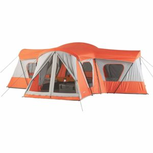 Spacious, Sturdy Easy Care, Store And Transport Ozark Trail Base Camp 14-Person Cabin Tent, BRIGHT ORANGE