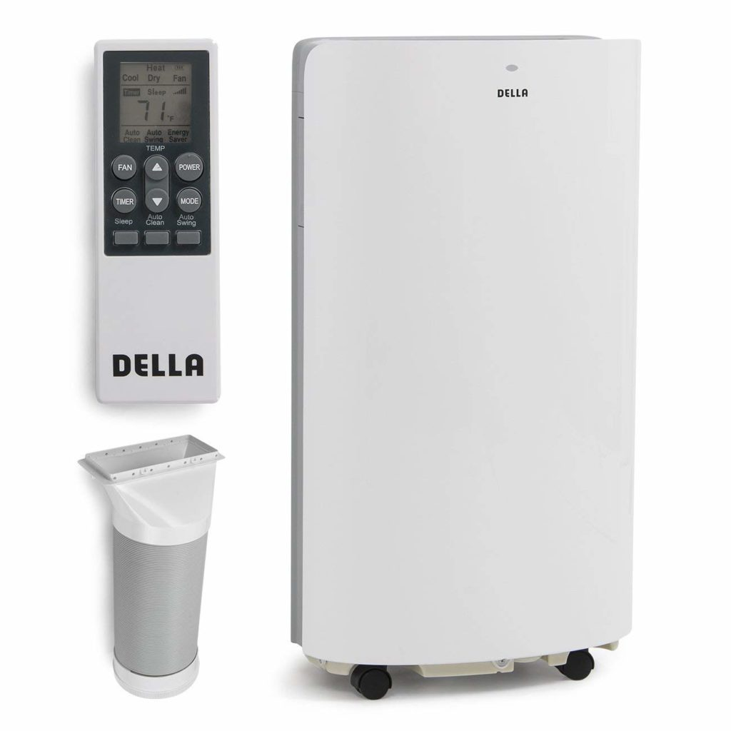 DELLA 14,000 BTU Evaporative Portable Air Conditioner/Heater/Dehumidifier/Cooling Function LED Panel Control