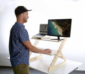 Readydesk 2 - Adjustable Standing Desk - Converts any Desk To A Dual Monitor Stand