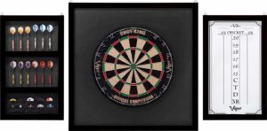 Viper by GLD Products Viper Championship Wood Framed Dartboard Backboard Set, Mahogany Finish