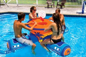 Aqua Inflatable Floating Picnic Table