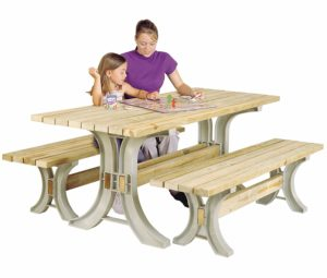 Hopkins 90182ONLMI 2x4basics Kids Picnic Table
