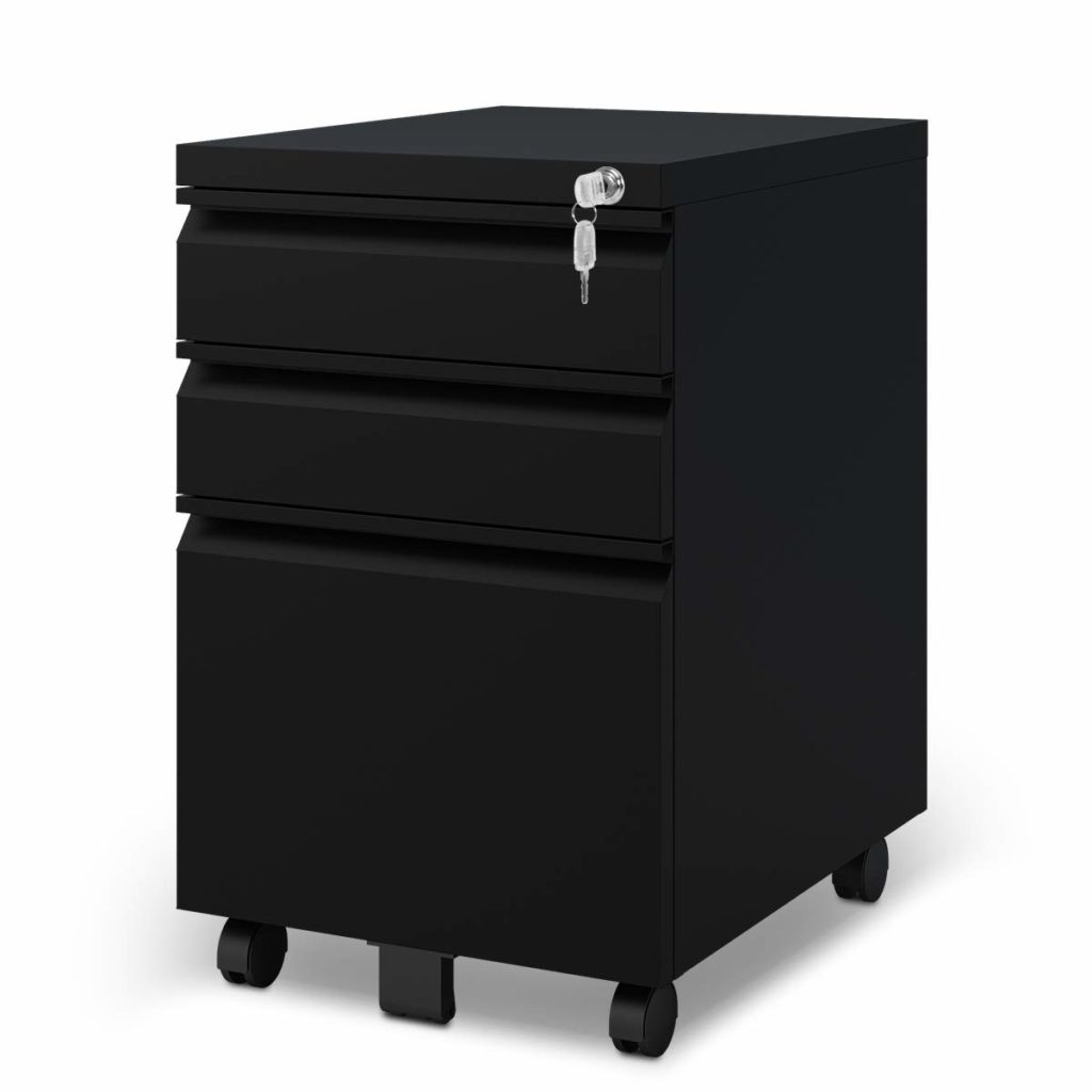 DEVAISE 3 Drawer Mobile File Cabinet