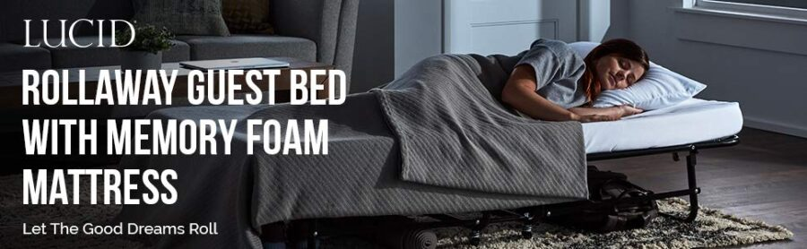 LUCID Rollaway Folding Guest Bed
