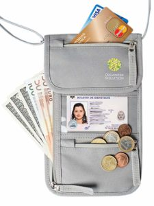 Organizer Solutiona - Travel Neck Pouch with RFID, Passport Holder