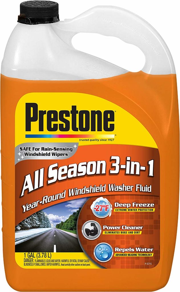 Prestone AS658 Deluxe 3-in-1 Windshield Washer Fluid