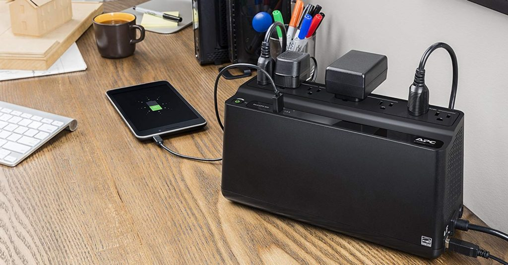 APC UPS Battery Backup & Surge Protector with USB Charger