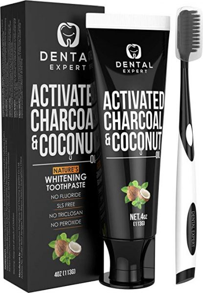 CTIVATED CHARCOAL TEETH WHITENING TOOTHPASTE