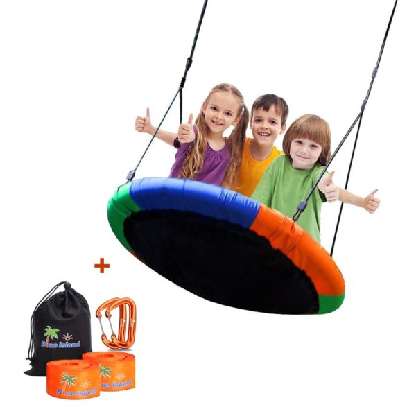Easy Quick and Ready to Hang Great Outdoor or Indoor Premier Wooden Tree Swing for Adults or Children Complete Kit Wood Tree Swing