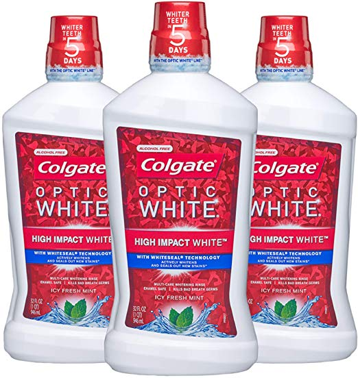 Colgate Optic White Whitening Mouthwash