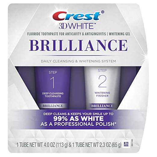Crest 3D White Brilliance Toothpaste and Whitening Gel