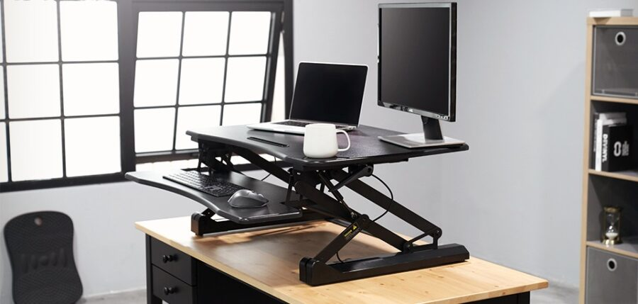 FEZIBO Standing Desk Converter - A Best Dual Monitor Stand
