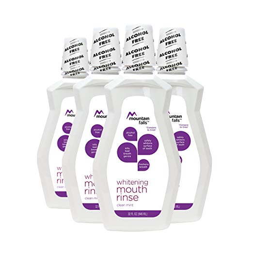 Mountain Falls Alcohol-free Clean Mint Whitening Mouthwash