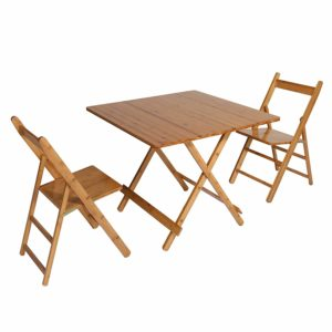 UNICOO - Bamboo Square Folding Table