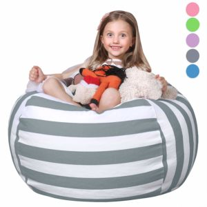 WEKAPO Stuffed Animal Storage Bean Bag Chair