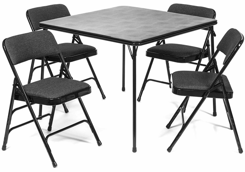 XL Series Folding Card Table and Fabric Padded Chair Set