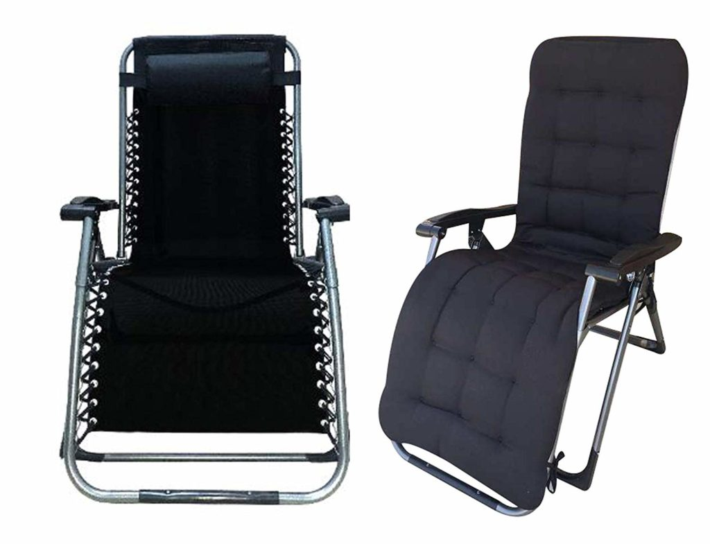 Four Seasons with Cushion Upgraded Heavy Duty Zero Gravity Chair Lounge