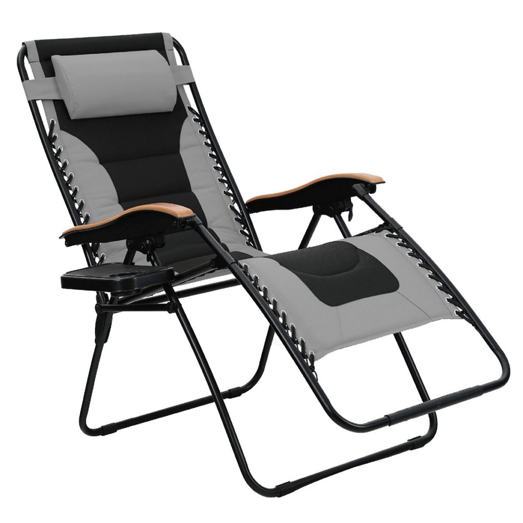 PHI VILLA Oversize XL Padded Zero Gravity Lounge Chair