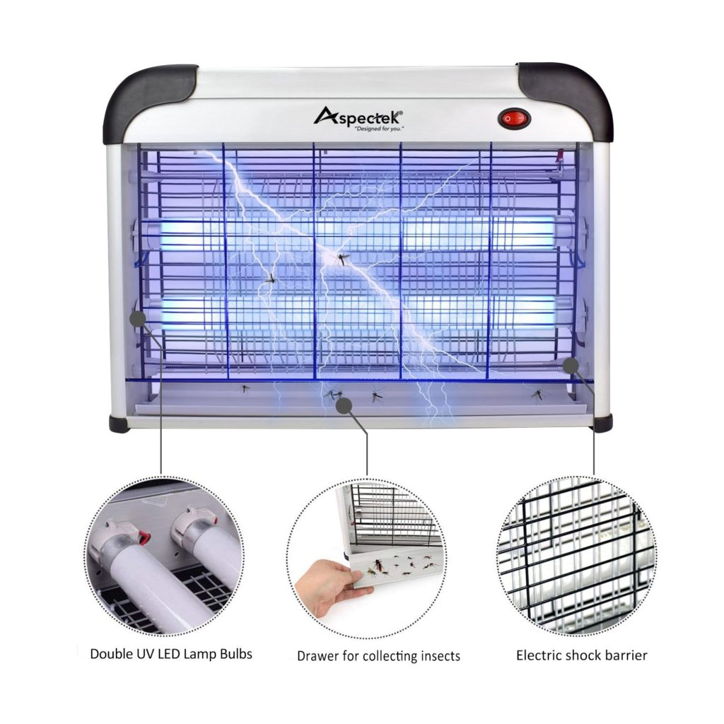 Aspectek UPGRADED 20W Electronic Bug Zapper