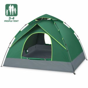 BATTOP 4 Person Tent for Family Camping Instant Pop Up Tents