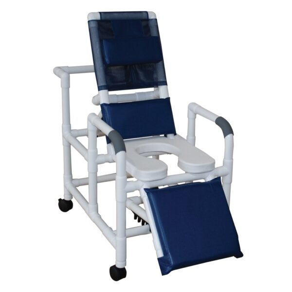 MJM International 193-SSDE Reclining Shower Chair with Elevated Leg Extension
