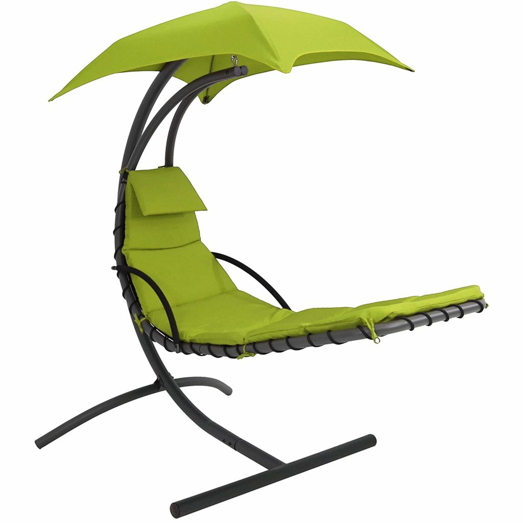 Sunnydaze Floating Chaise Lounger Swing Chair