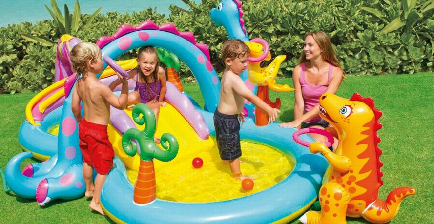 Intex Dinoland - One of the best inflatable pools for kids