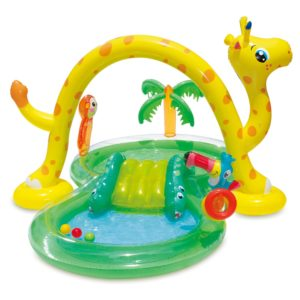 Summer Waves 8.5ft x 6.3ft x 50in Inflatable Jungle Animal Kiddie Swimming Pool Play Center