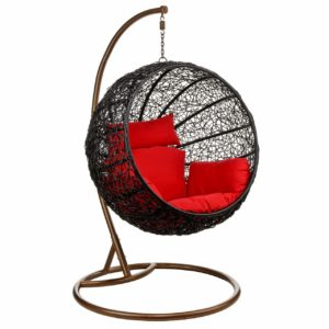 DVCOM Wicker Rattan Hanging Egg Chair