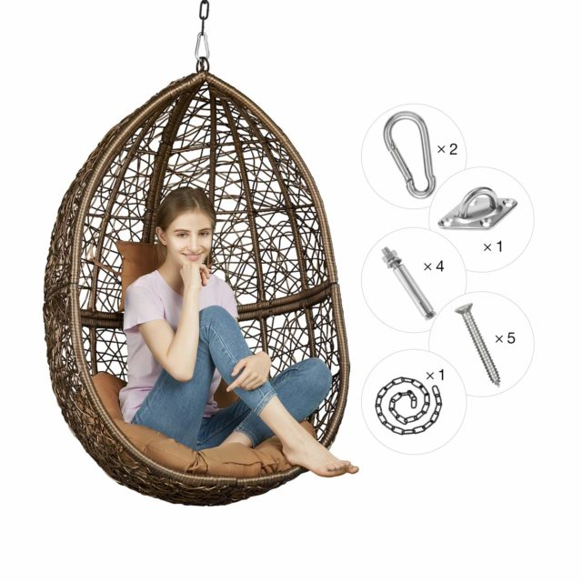 Greenstell Rattan Wicker Egg Hammock Chair