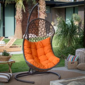 Island Bay B073S2M52G Resin Wicker Hanging Egg Swing Chair