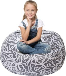 5 STARS UNITED Stuffed Animal Storage Bean Bag