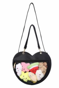 Fascinating Clear Candy Leather Handbag